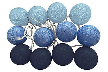 Havsö Blue Indigo Ljusslinga 12 Bollar + Batterilåda