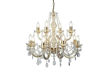 Marie Therese 12L Polished Brass Crystal
