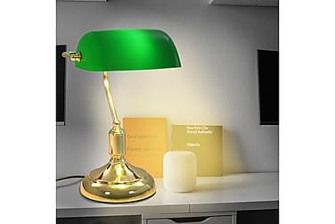 Bordslampa 40 W grön och guld