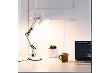 Skrivbordslampa med justerbar arm vit E27