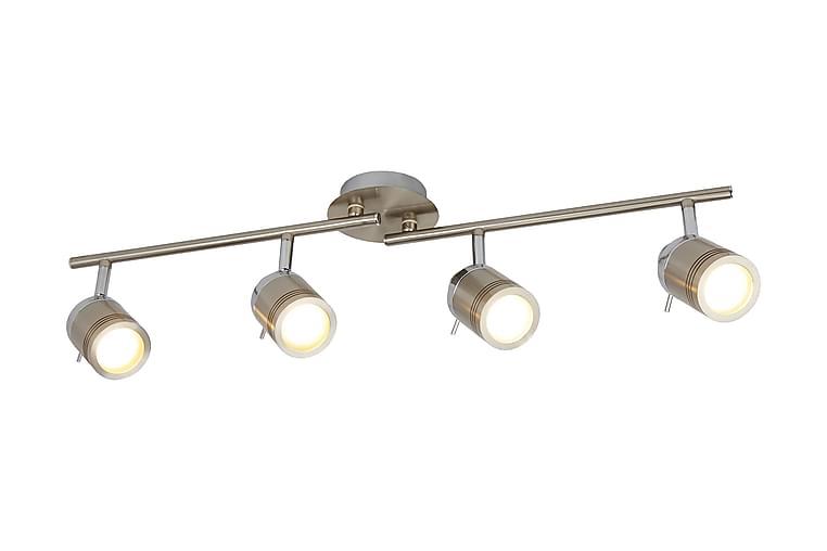 Samson 4L IP44 Ba Spot Split-Bar Satin Silver - Searchlight - Belysning - Inomhusbelysning & Lampor - Spotlights & downlights