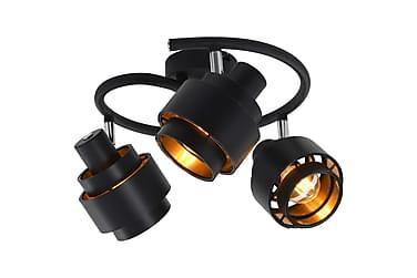 3-vägs spotlight svart E14