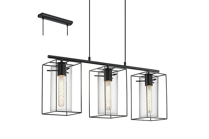 Eglo Loncino Taklampa 75 cm 3 Lampor - Svart/Transparant - Belysning - Inomhusbelysning & Lampor - Taklampa