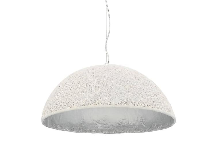 Hänglampa vit och silver Ø70 cm E27 - Flerfärgad - Belysning - Inomhusbelysning & Lampor - Taklampa