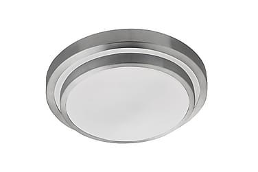 Bathroom Flush LED IP44 2 Tier Aluminium/Vit