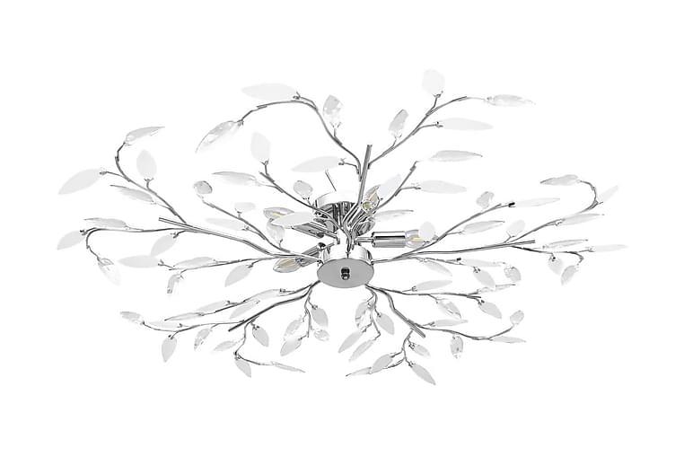 Taklampa med akrylblad för 5 E14-lampor vit - Vit - Belysning - Inomhusbelysning & Lampor - Taklampa
