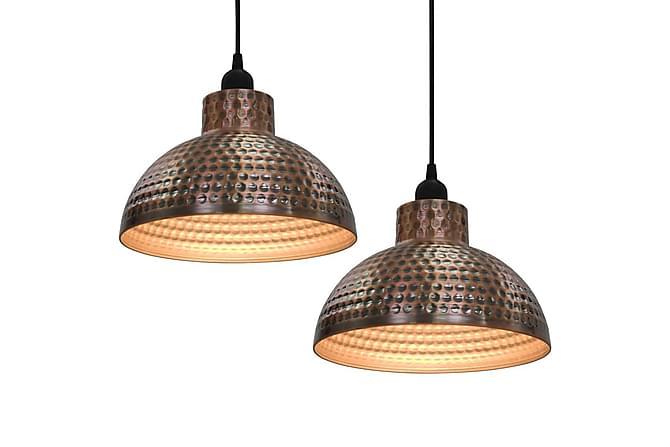 Taklampor 2 st halvrunda koppar - Belysning - Inomhusbelysning & Lampor - Taklampa