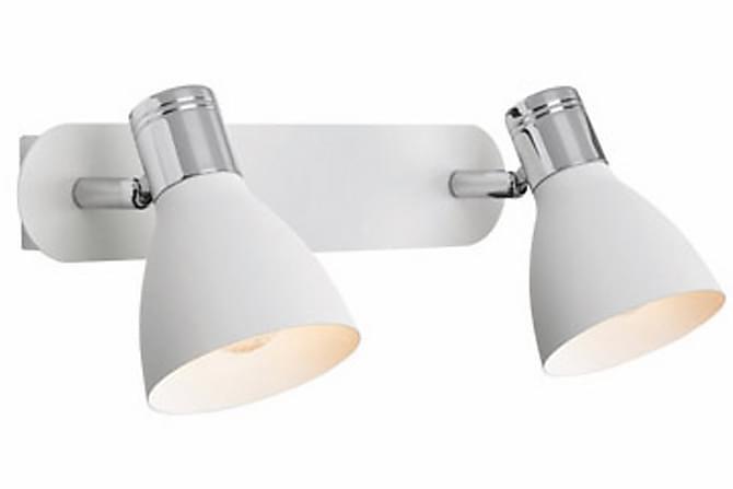 Huseby Vägglampa 2L Krom/Vit - Markslöjd - Belysning - Inomhusbelysning & Lampor - Vägglampa