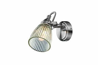 Lada Vägglampa Stål/Klar