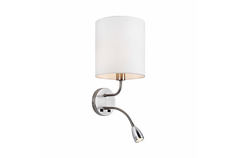 Mason Vägglampa 2L Stål/Vit