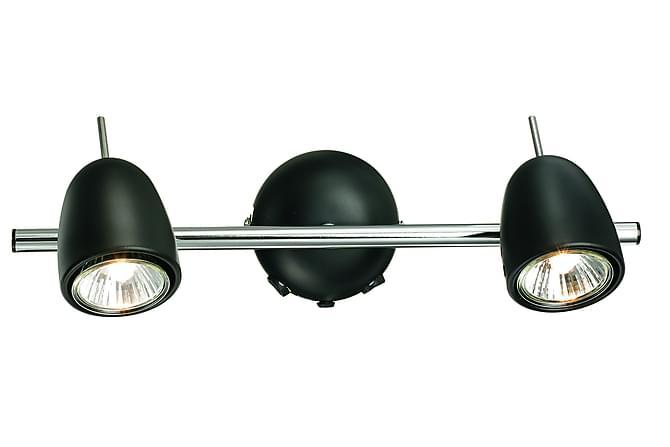 Tobo Väggspot 2L Krom/Svart - Markslöjd - Belysning - Inomhusbelysning & Lampor - Vägglampa