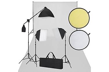 Studioutrustning vit och svart