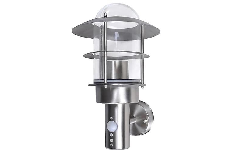 Vägglampa Restego Rörelsedetektor - Silver - Belysning - Utomhusbelysning - Fasadbelysning