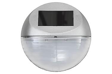 Sollampa vägg LED set 12 st rund silver