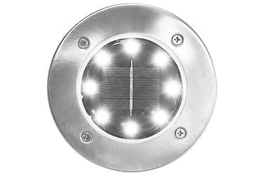 Marklampor soldrivna 8 st LED vit