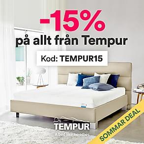 Tempur - Nu 15% rabatt på allt!