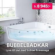 Bubbelbadkar & massagebadkar