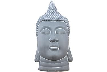 Buddha Huvud Grå Vägg H78 cm
