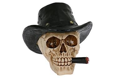 Jareth Dekoration Skalle Hatt