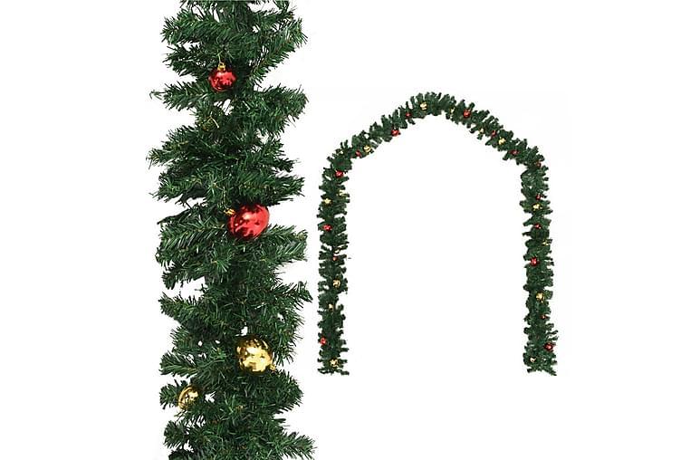 Julgirlang med julgranskulor 20 m - Grön - Heminredning - Dekoration - Julpynt & juldekoration