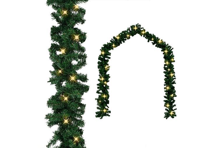 Julkrans med LED-lampor 20 m - Grön - Heminredning - Dekoration - Julpynt & juldekoration