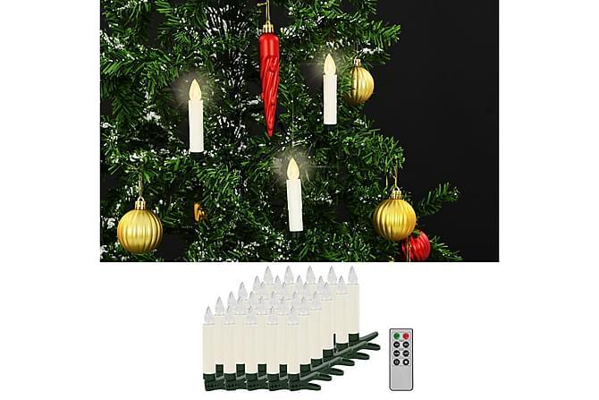 Trådlösa LED-ljus med fjärrkontroll 30 st varmvit - Vit - Heminredning - Dekoration - Julpynt & juldekoration