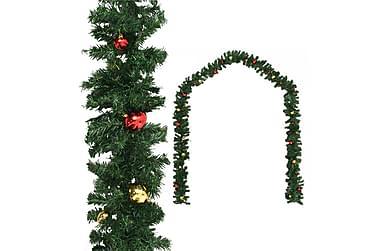 Julgirlang med julgranskulor 5 m