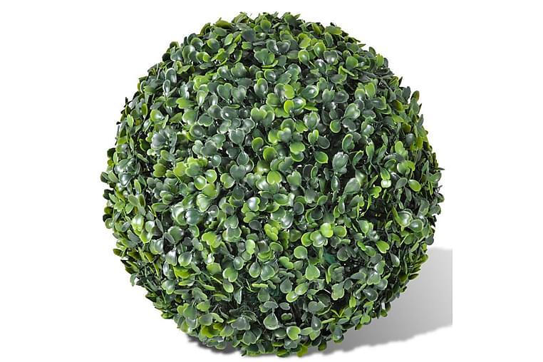 Konstväxt Buxbom 2 st bollar 35 cm - Grön - Heminredning - Dekoration - Konstgjorda växter