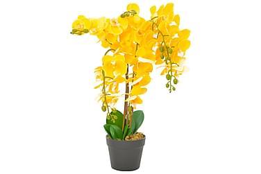 Konstväxt Orkidé med kruka 60 cm gul