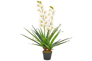 Konstväxt Orkidé med kruka 90 cm vit