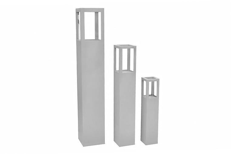 Ljuslykta grå 3-pack