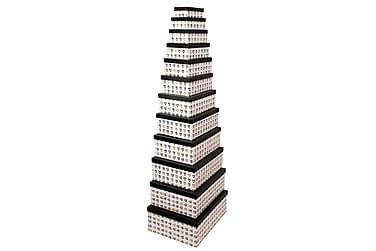 Lozano Låda 43 cm Set om 12 Hjärtmönster