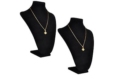 Halsbandsbyst 2 st 23 x 11,5 x 30 cm svart