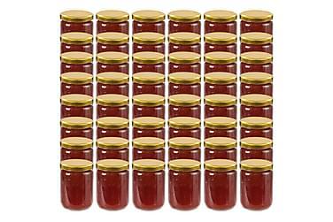 Syltburkar i glas med guldfärgade lock 48 st 230 ml