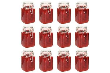 Syltburkar i glas med lock 12 st 260 ml