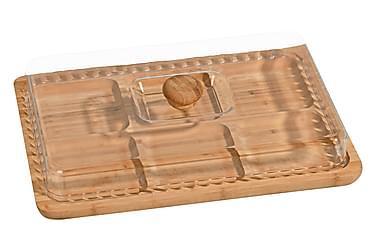 Kosova Frukostset 2 Delar 33 cm Fyrkantig Bambu