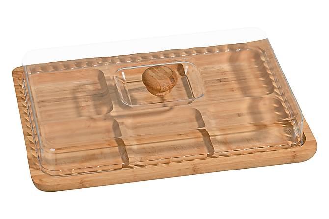 Kosova Frukostset 2 Delar 33 cm Fyrkantig Bambu - Brun - Heminredning - Husgeråd & kökstillbehör - Köksbrickor
