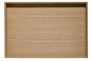Oval oak Bricka
