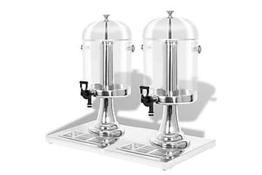 Dubbel juicebehållare rostfritt stål 2 x 8 L