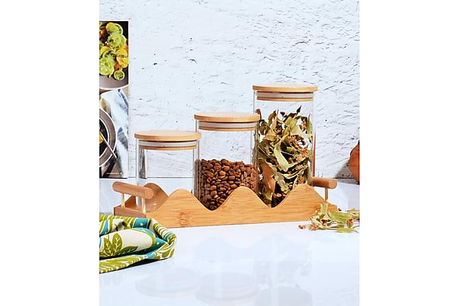 Kosova Kryddglasset 7 Delar Bambu/Glas - Transparent - Heminredning - Husgeråd & kökstillbehör - Köksredskap