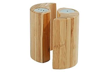 Kosova Salt-och Pepparset 7 cm Rund Bambu