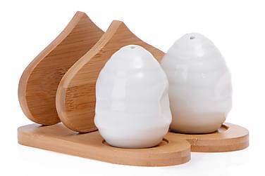 Kosova Salt-och Pepparset Bambu/Porslin