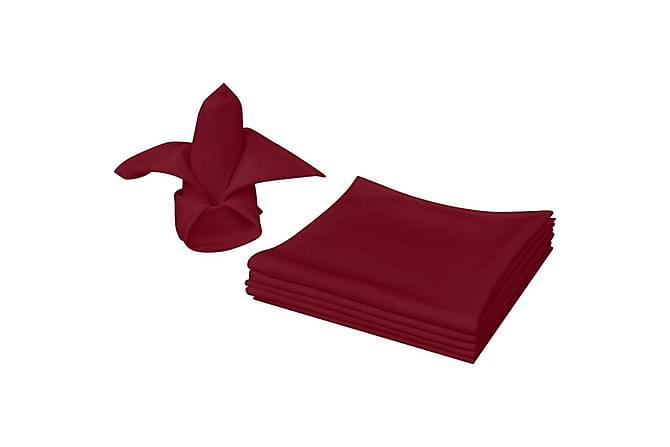 Servetter 25 st vinröd 50x50 cm - Röd - Heminredning - Husgeråd & kökstillbehör - Kökstextilier