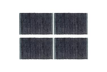 Bordstabletter 4 st chindi antracit 30x45 cm bomull
