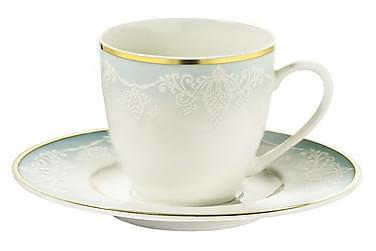 Kütahya Kaffeservis 12 Delar Porslin