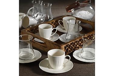 Kütahya Te-och kaffeservis 18 Delar Porslin