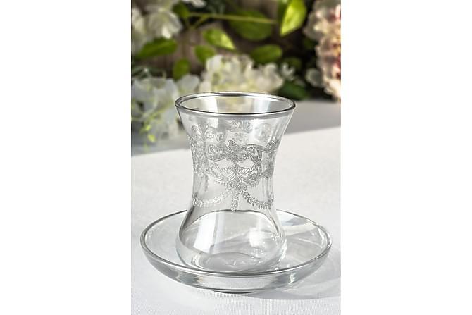 Noble Life Teservis Glas 12 Delar Glas - Platina - Heminredning - Husgeråd & kökstillbehör - Muggar & koppar