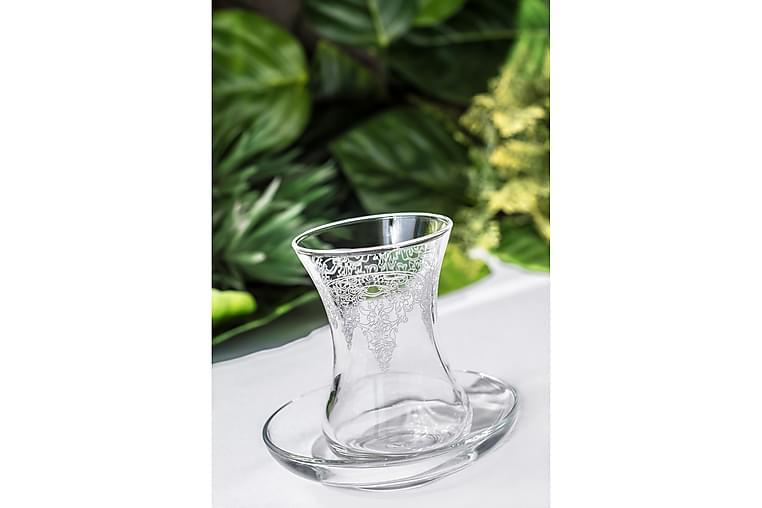 Noble Life Teservis Glas 12 Delar Glas - Vit - Heminredning - Husgeråd & kökstillbehör - Muggar & koppar