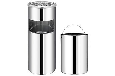Askfat/soptunna 30 L rostfritt stål