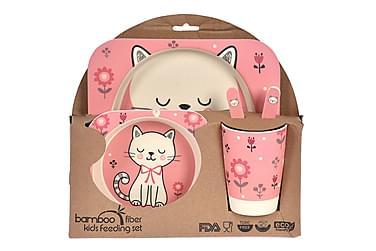 Bernac Barnset Katt 5 Delar Bambu